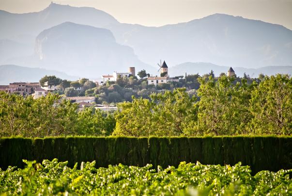 Blick auf Santa Maria del Camí auf Mallorca