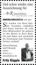 Zeitungsbericht: Auszeichnung
