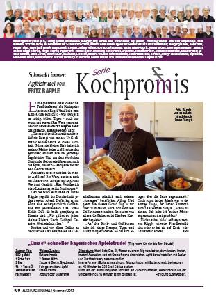 Zeitungsbericht: Die Kochpromis