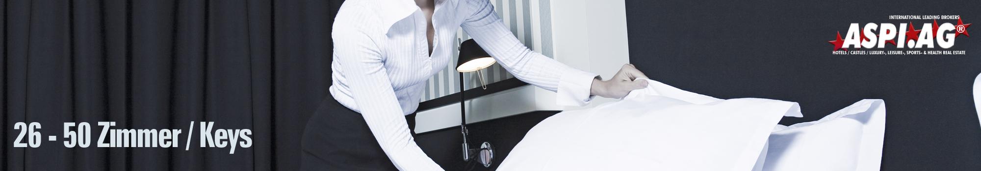 Hotels up to 50 keys rooms for sale international Hotelbroker ASP