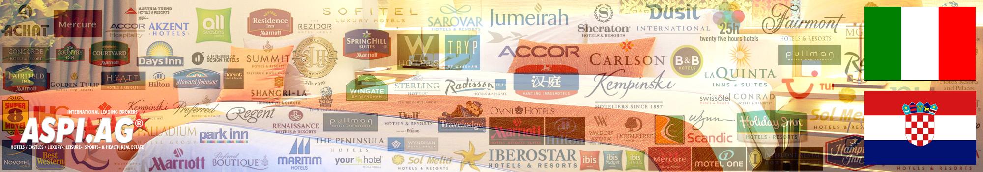 Hotels for sale in Italy and Croatia. Hotels zu verkaufen zu verpachten in Italien, Rom, Südtirol, Adria, und Kroatien, Istrien, Dalmatien, Split, Zagreb