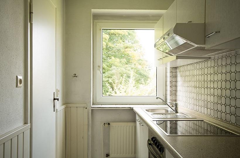 Küche ohne Dekoration