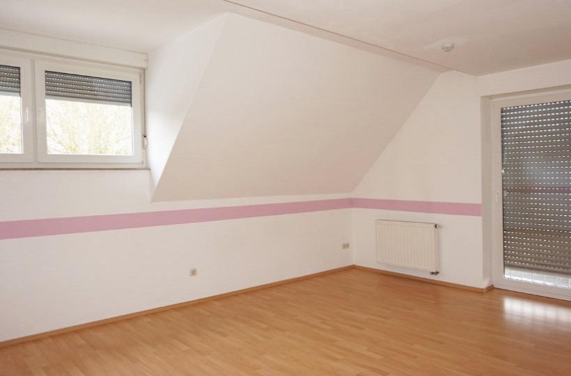 Unmöbliertes Mädchenzimmer