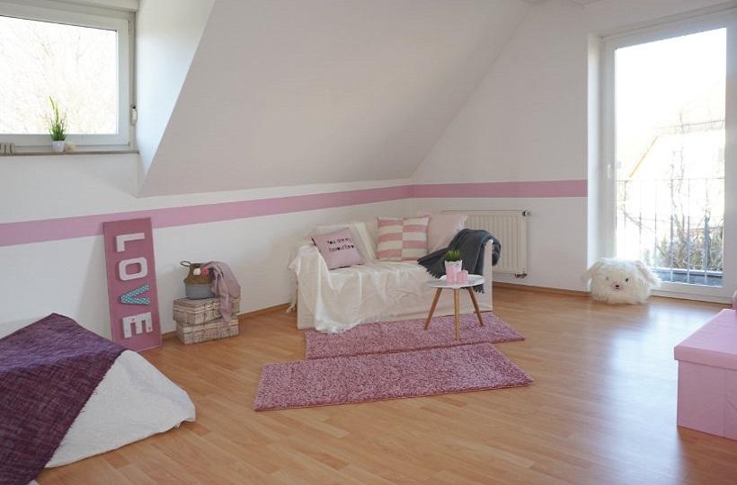 Möbliertes Mädchenzimmer