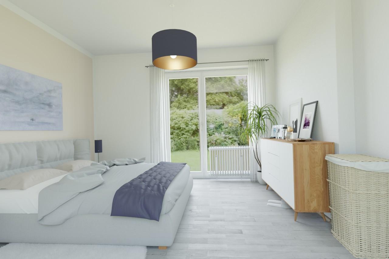 Eingerichtete Wohnung durch Home-Staging
