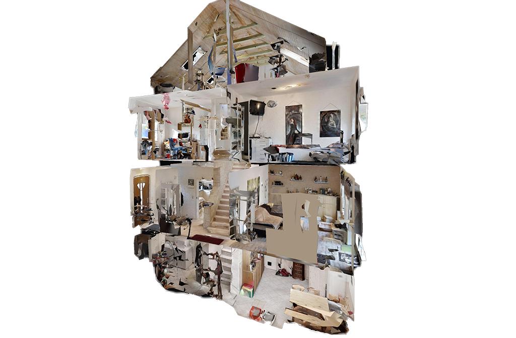 3D Scan einer Immobilie