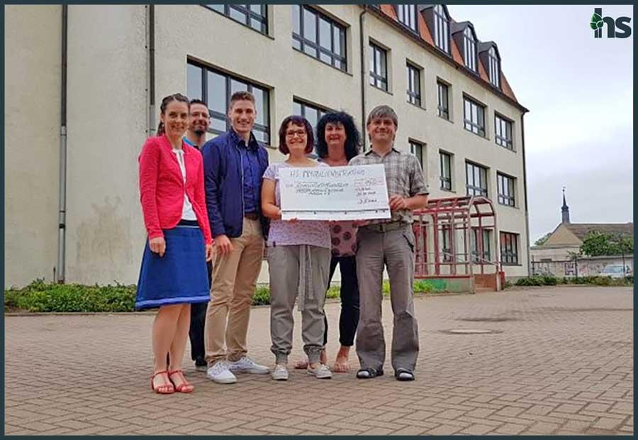 Spendenübergabe in Holleben, Förderverein für Bildung