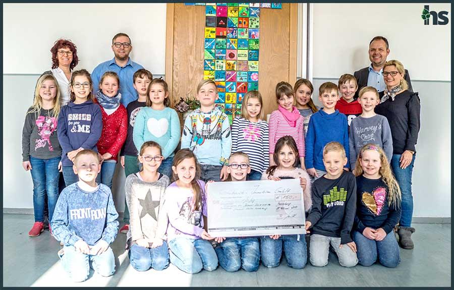 Johannesschule Merseburg, Spendenübergabe durch Aschekowski-Immobilien