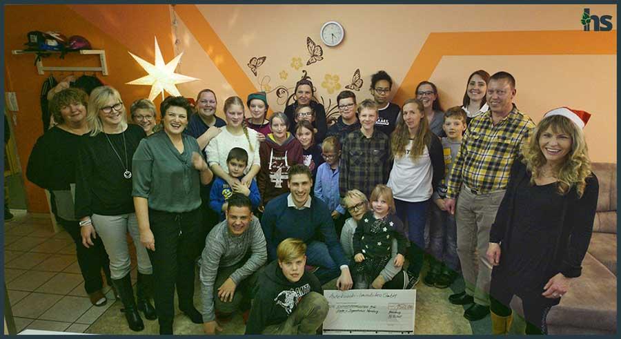 Immobilienmakler Spenden an das Kinder- und Jugendhaus in Merseburg zu Weihnachten