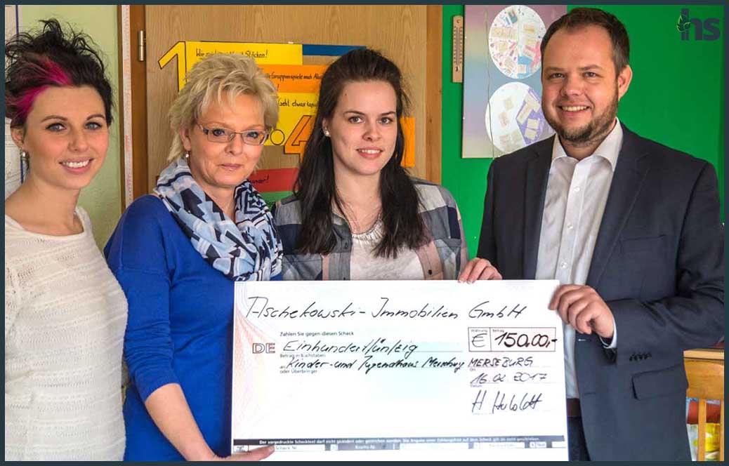 Spendenaktion beim Kinder- und Jugendhaus in Merseburg