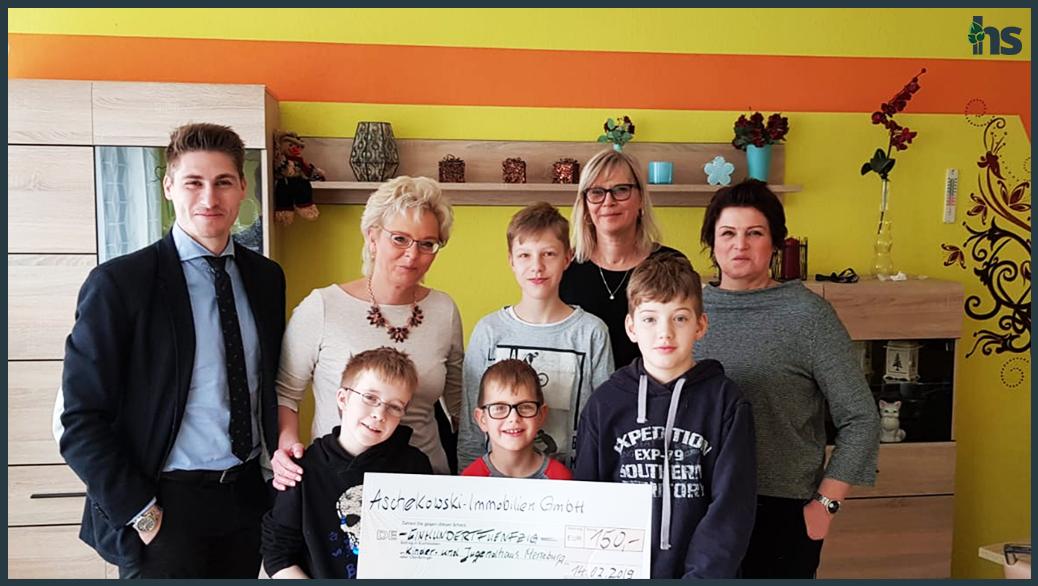 Spendenübergabe an das Kinder- und Jugendhaus in Merseburg