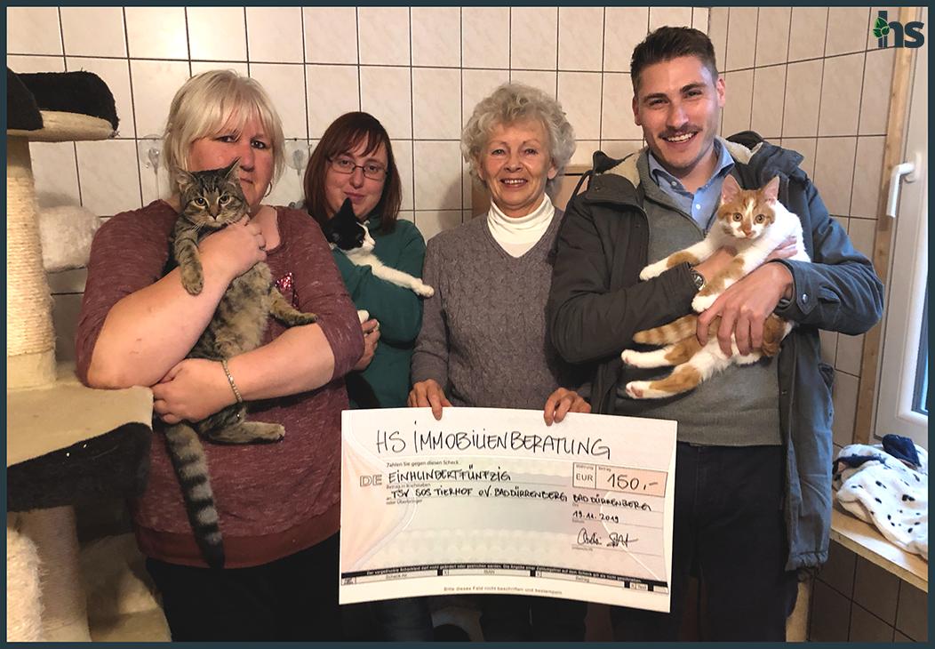 Spendenübergabe TSV SOS Tierhof Bad Dürrenberg