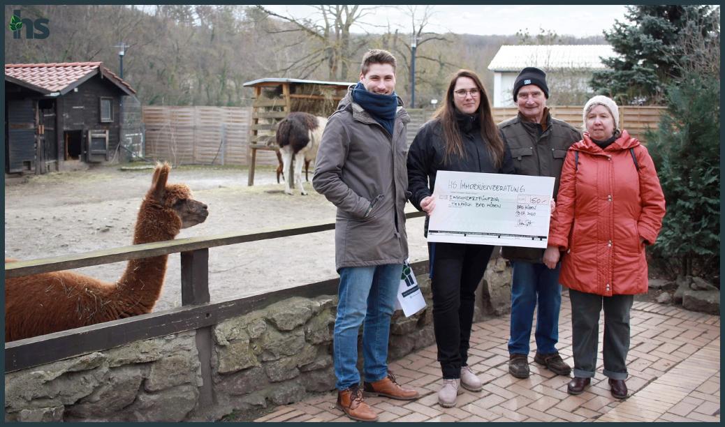 Spendenübergabe Tierpark Bad Kösen