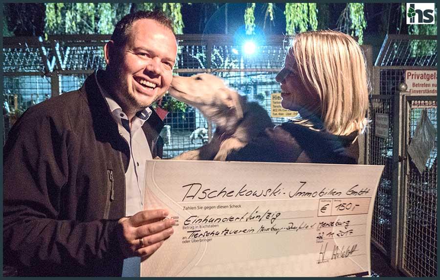Spendenübergabe an das Tierheim in Merseburg