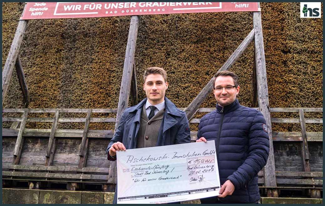 Spende für den Erhalt des Gradierwerks in Bad Dürrenberg