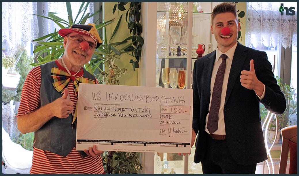 Spendenübergabe Leipziger Klinikclowns