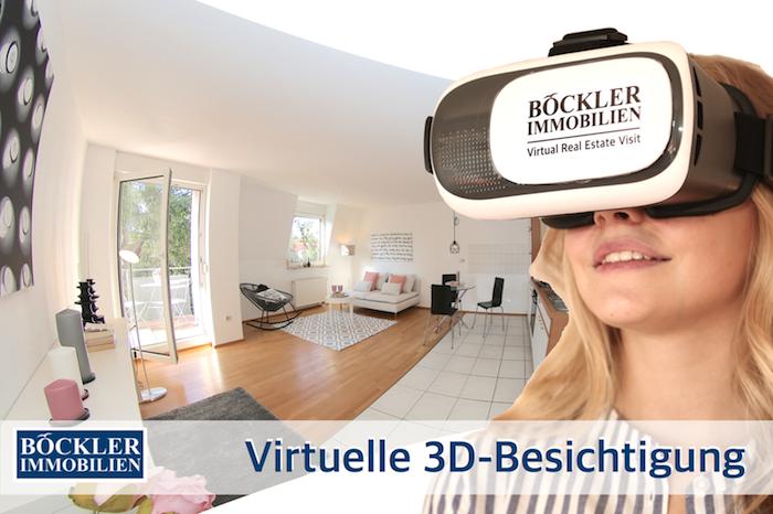 Virtuelle Besichtigung über eine VR-Brille