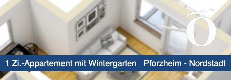 1 Zimmer Appartement mit Einbauküche und Wintergarten Pforzheim Nordstadt Immobilie