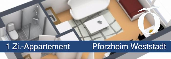 1 Zimmer Appartment Pforzheim Weststadt Immobilie