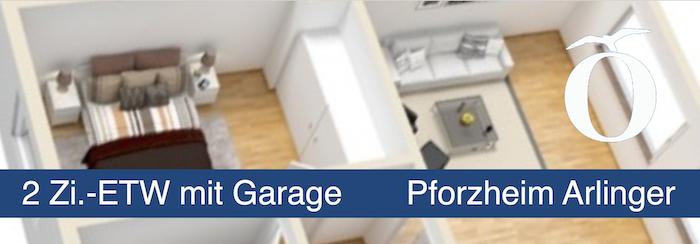 2 Zimmer Eigentumswohnung mit Garage in Pforzheim Arlinger