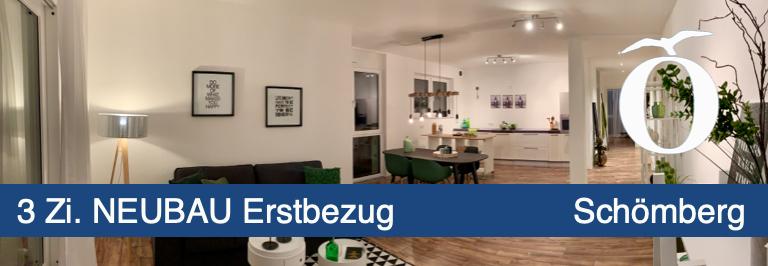 3 Zimmer Neubau Erstbezug Eigentumswohnung mit Balkon in Schömberg Landkreis Calw barrierefrei