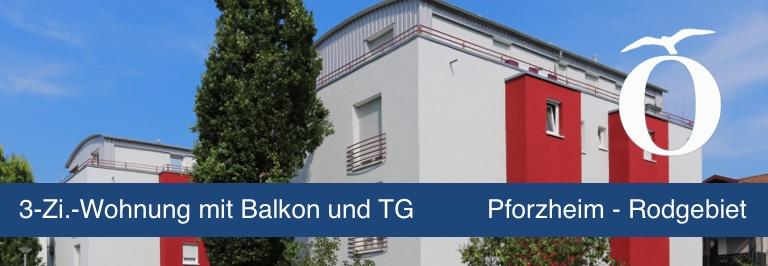 3 Zimmer Mietwohnung mit Balkon Pforzheim Rodgebiet