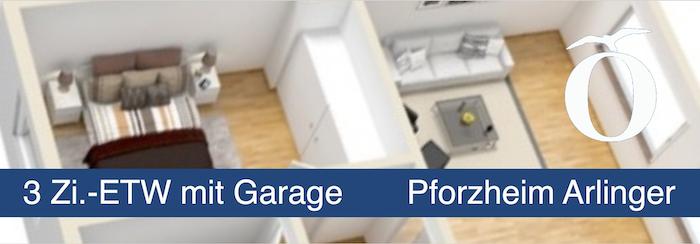 3 Zimmer Eigentumswohnung mit Garage Pforzheim Arlinger