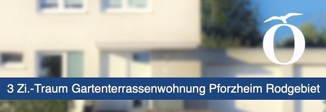 3 Zimmer Gartenterrassen Eigentumswohnung mit Garage Pforzheim Rodgebiet Immobilie kaufen