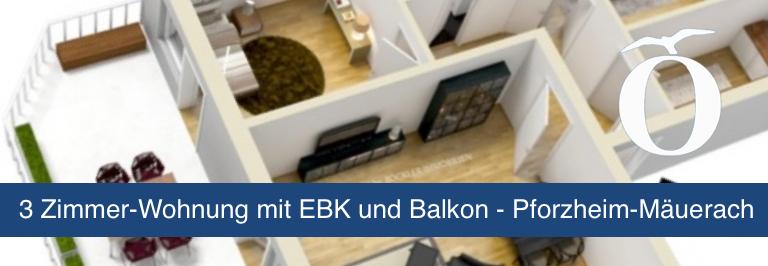 3 Zimmer Mietwohnung Pforzheim Mäuerach Immobilie