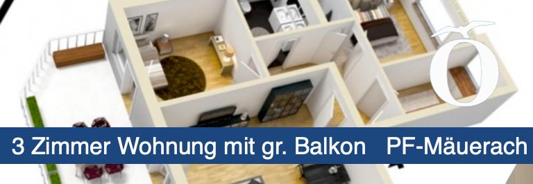3 Zimmer Mietwohnung Pforzheim Mäuerach