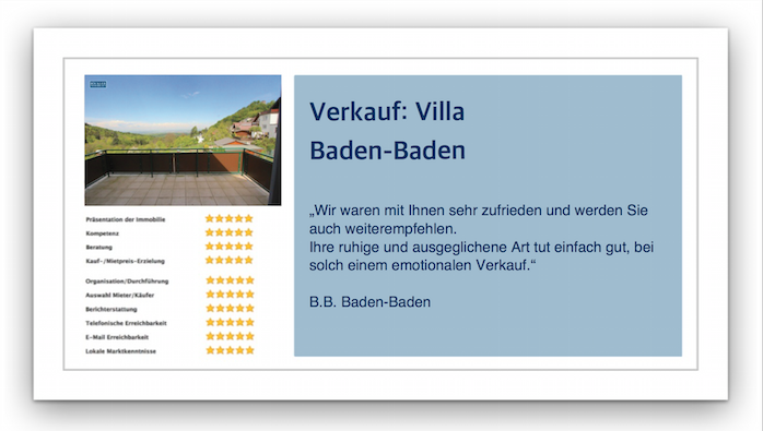 Referenz Villa in Baden Baden