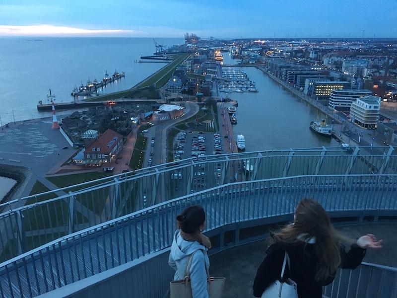 Ausblick auf das neue Hafenareal Bremerhaven