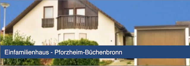 Einfamilienhaus in Pforzheim-Büchenbronn