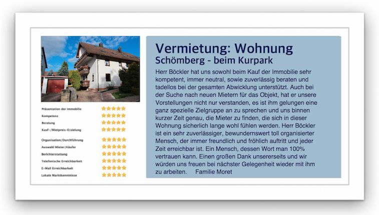 Referenz Immobilienmakler Schömberg.
