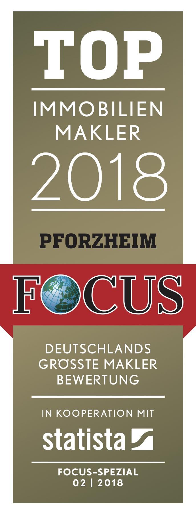 TOP Immobilienmakler Pforzheim Focus Auszeíchnung