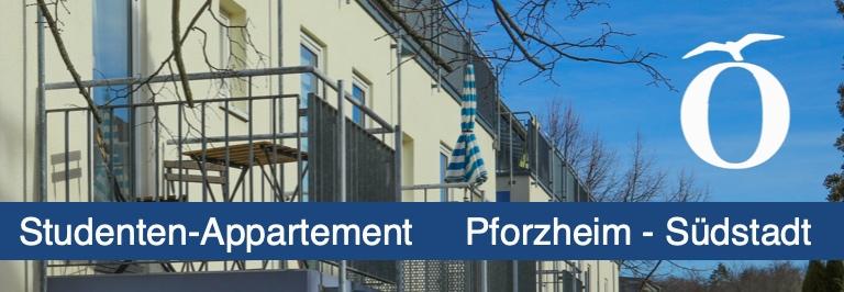 Studenten Appartement in Pforzheim Südstadt bei Fachhochschule