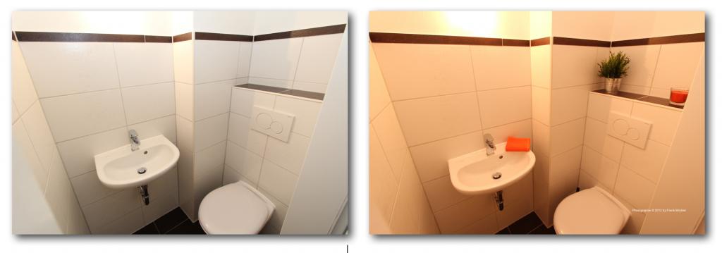 Home-Staging für ein WC