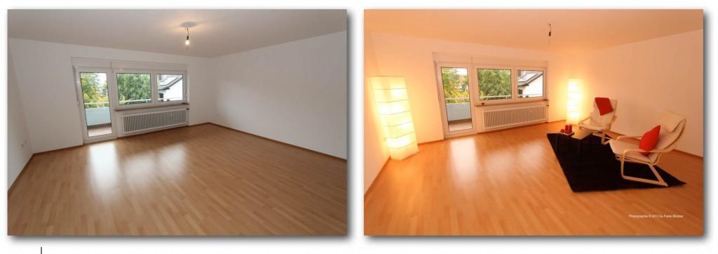 Home-Staging für ein Wohnzimmer