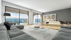 Loft-Wohnung mit Meerblick