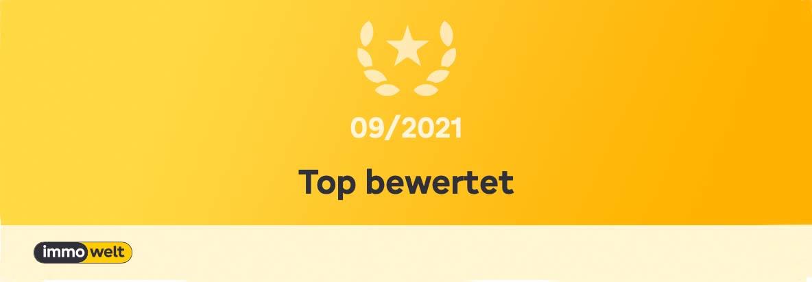 immowelt Top bewertet 09/2021
