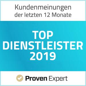 ProvenExpert.com TOP-DIENSTLEISTER 2019