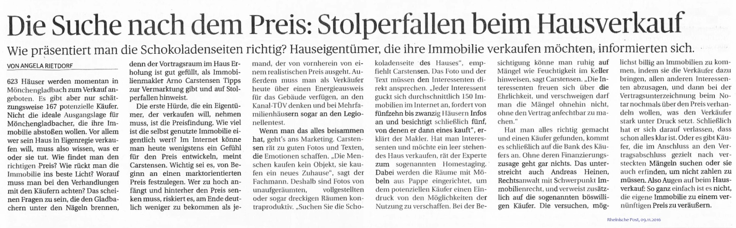 Stolperfallen beim Hausverkauf Mönchengladbach