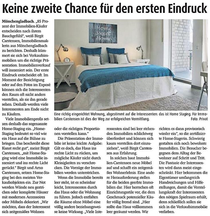 Homestaging Immobilien-Carstensen Mönchengladbach