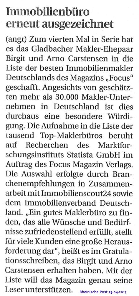 FOCUS TOP-Immobilienmakler Mönchengladbach