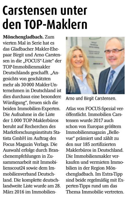 FOCUS Top Makler Mönchengladbach