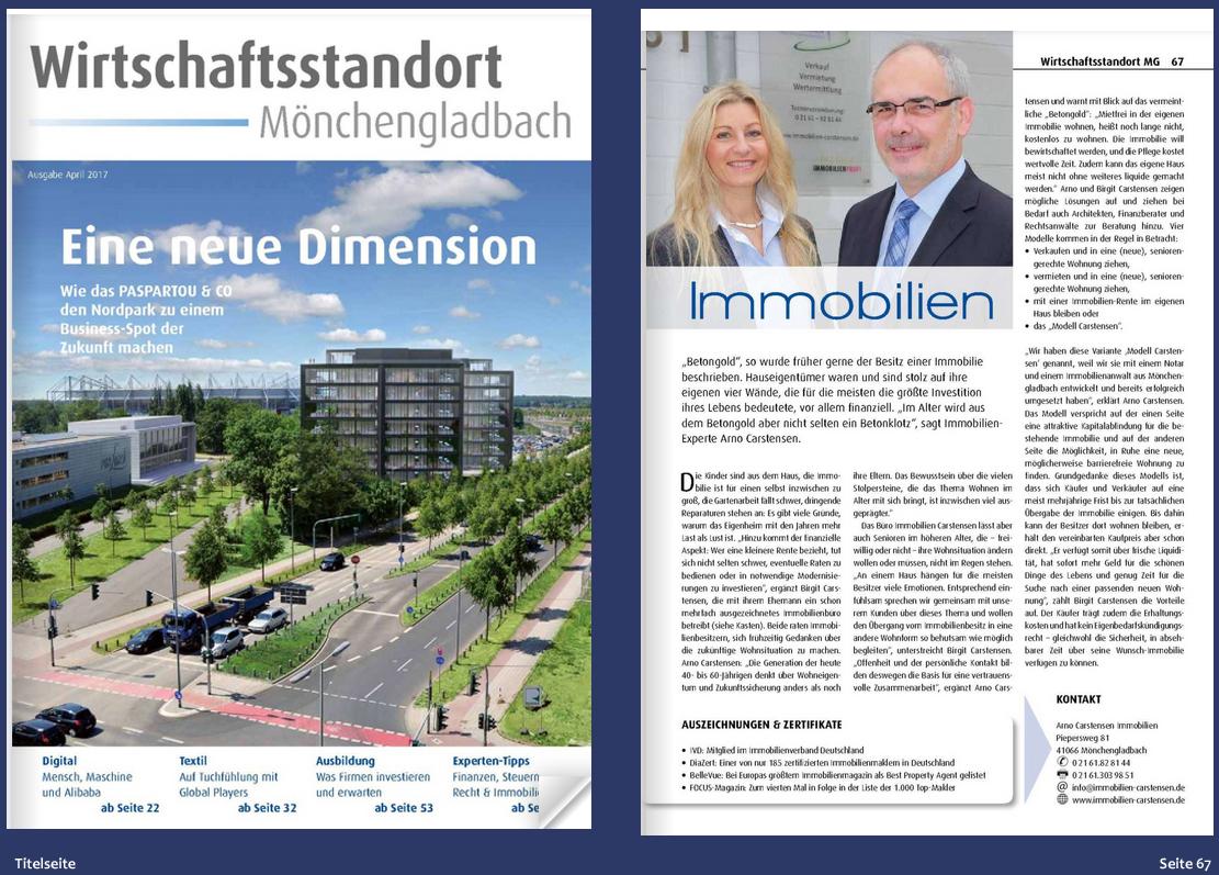 Wirtschaftsstandort Mönchengladbach - Immobilien-Carstensen