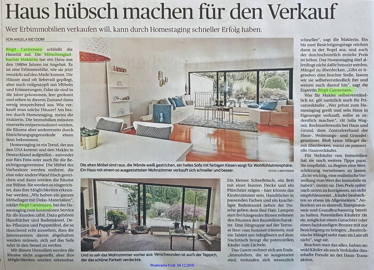 Home-Staging Mönchengladbach Carstensen
