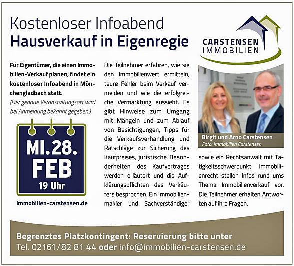 Anzeige ExtraTipp Immobilienmakler Mönchengladbach