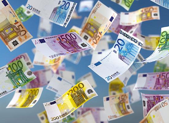 Diverse Eurobanknoten