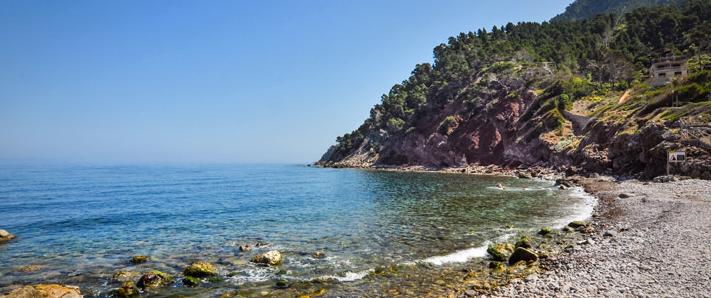 Kiesstrand auf Mallorca